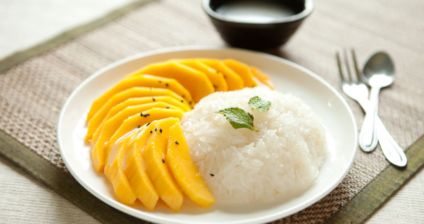 Sticky Rice in Coconut Milk and Mango