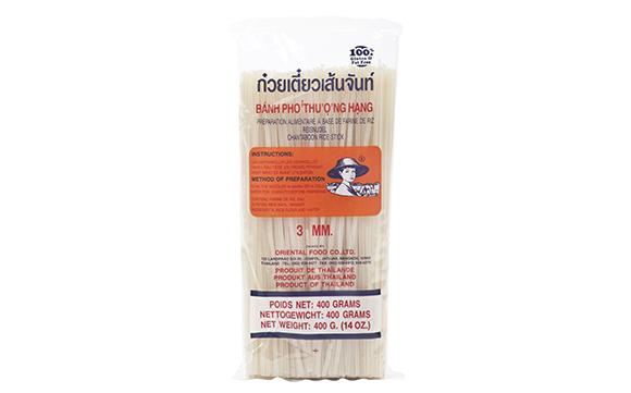 """אטריות אורז ארוכות ישרות 3 מ""""מ"""