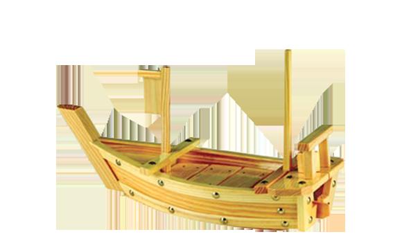 סירת עץ להגשת סושי 60 ס'מ