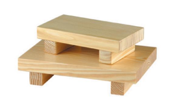 מגש עץ לסושי גדול 18X27X6 ס'מ