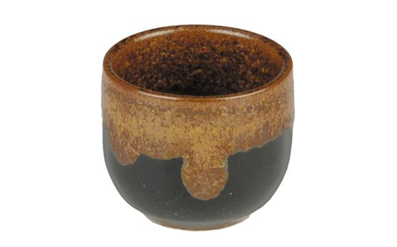 Porcelain sake Cup Purpal/Black