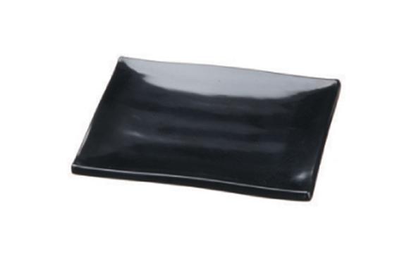 צלחת מלמין לסושי – שחור 150