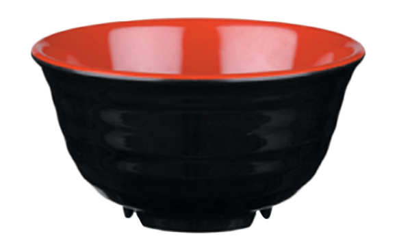 Melamin Bowl Black + Cover 704