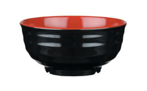 קערת מלמין אדום שחור 9115