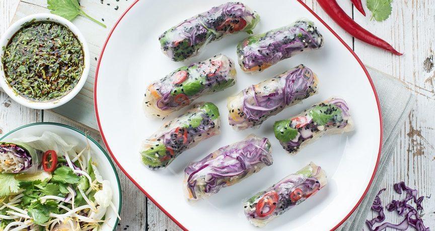 ספרינג רולז במילוי ירקות וטופו
