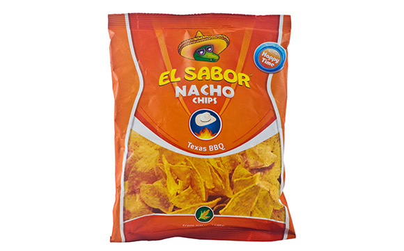 NACHO CHIPS BARBEQUE 100 g* 16 units / ctn