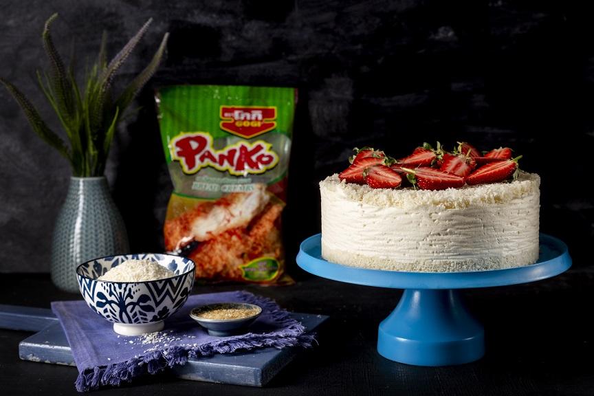 עוגת גבינה קרה ופירורי פנקו