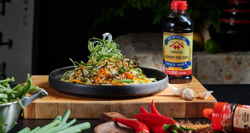 טעימים בטוקיו: סלט יפני ברוטב פונזו